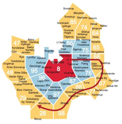 Copenhagen transport understanding zones least zones travel through airport Scandinavia Standard