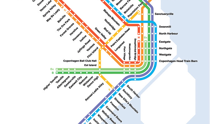 Literal English Translation of the Copenhagen STrain Map Copenhagen