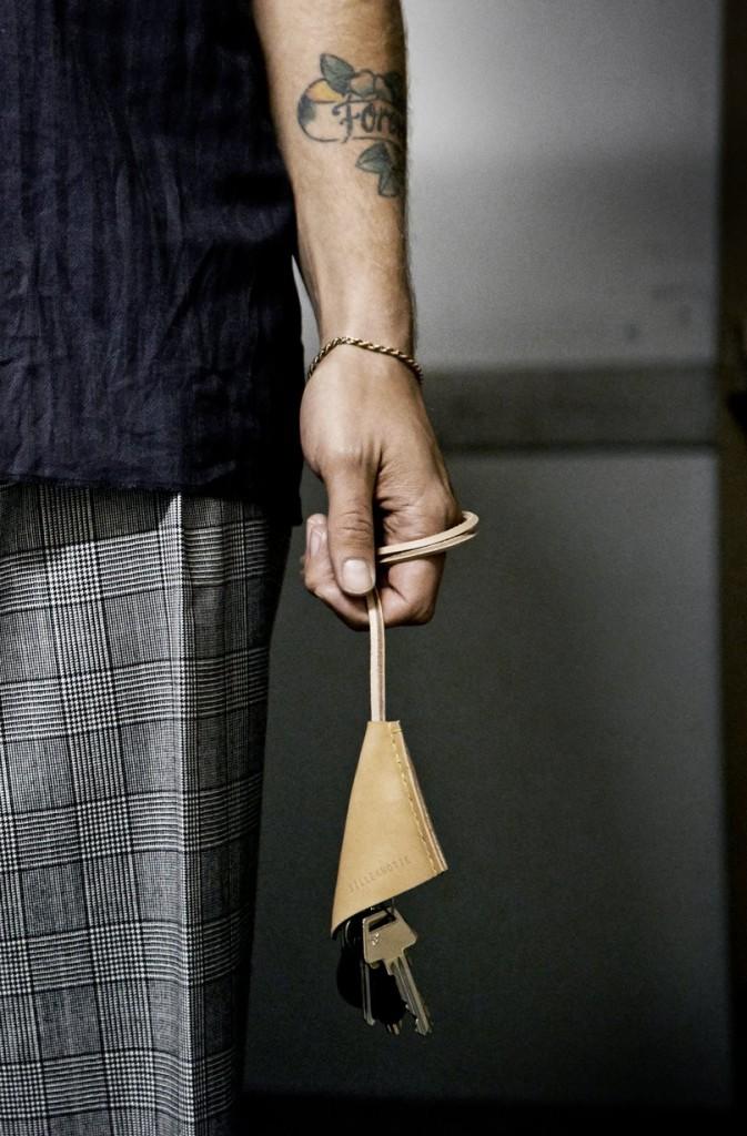 Silleknotte Leather Goods Handmade Scandinavia Standard Key Ring Strap Denmark Copenhagen NEW
