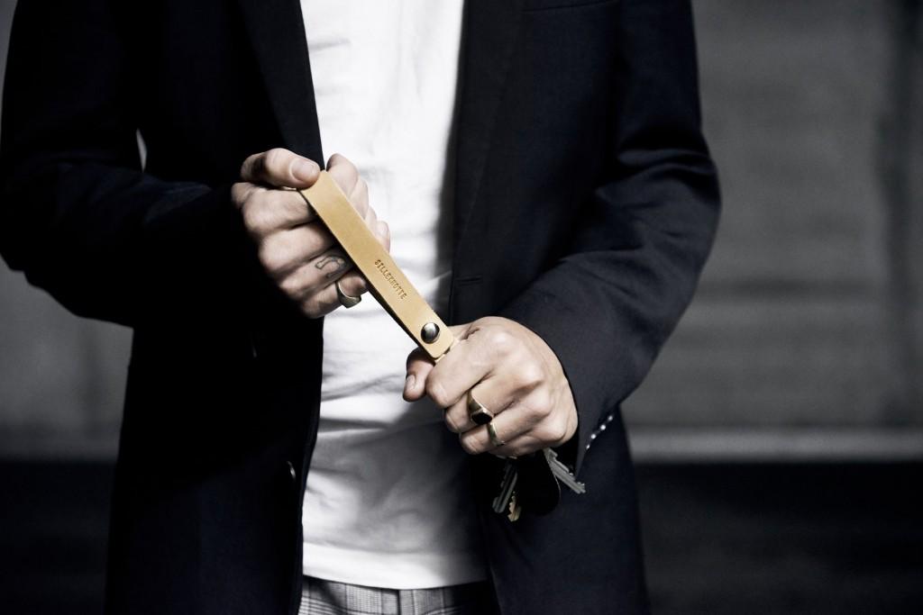 Silleknotte Leather Goods Handmade Scandinavia Standard Main Image Key Ring Strap Denmark Copenhagen NEW