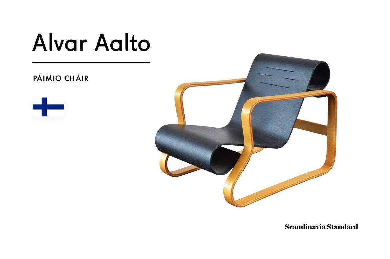 Six Classic Scandinavian Mid Century Modern Chairs Alvar Aalto Paimio Chair