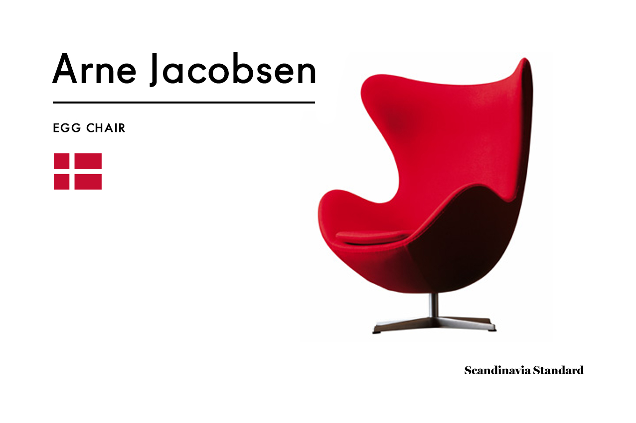 Six Classic Scandinavian Mid Century Modern Chairs | Arne Jacobsen | EGG  CHAIR
