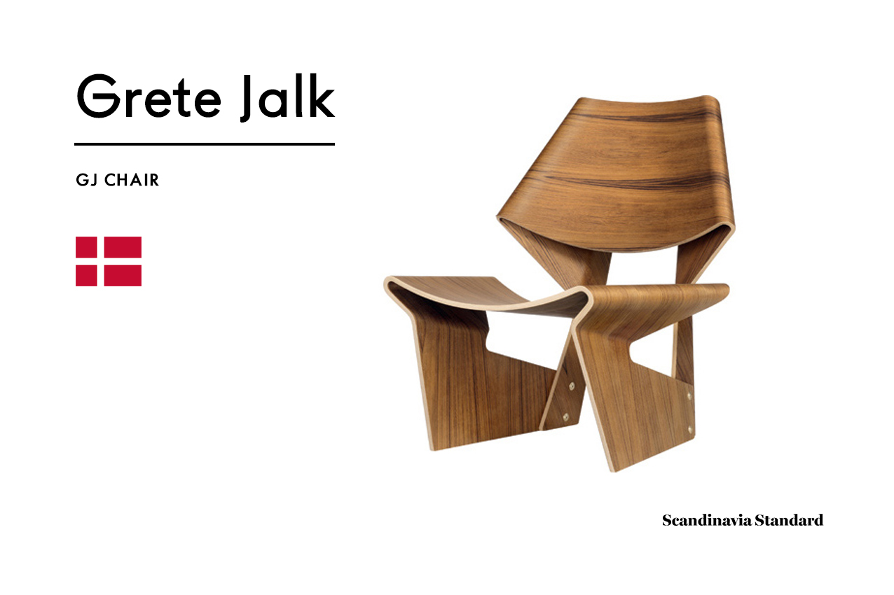 The gj chair produced in 1963 is her best known design and is one of the quirkier danish chairs on the market