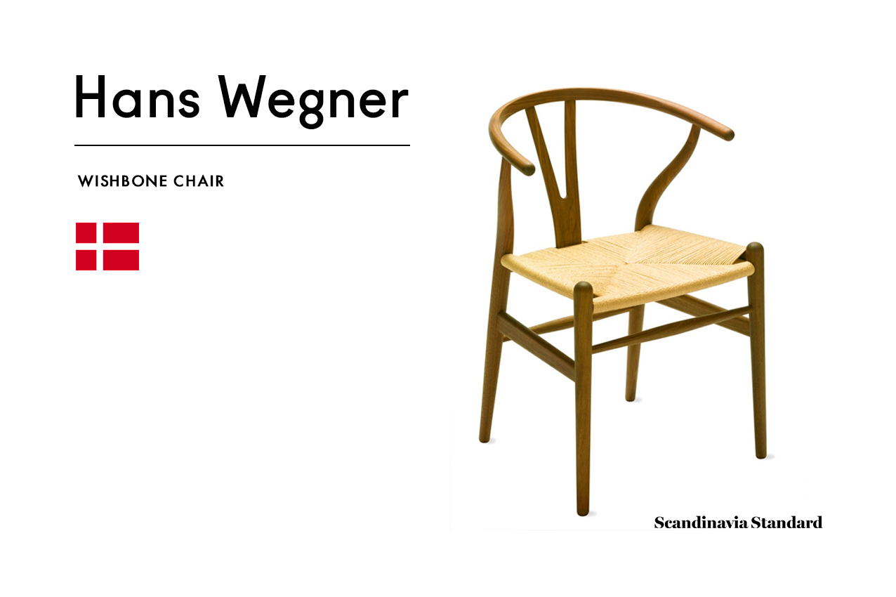 Six Classic Scandinavian Mid Century Modern Chairs Hans Wegner WISHBONE  CHAIR