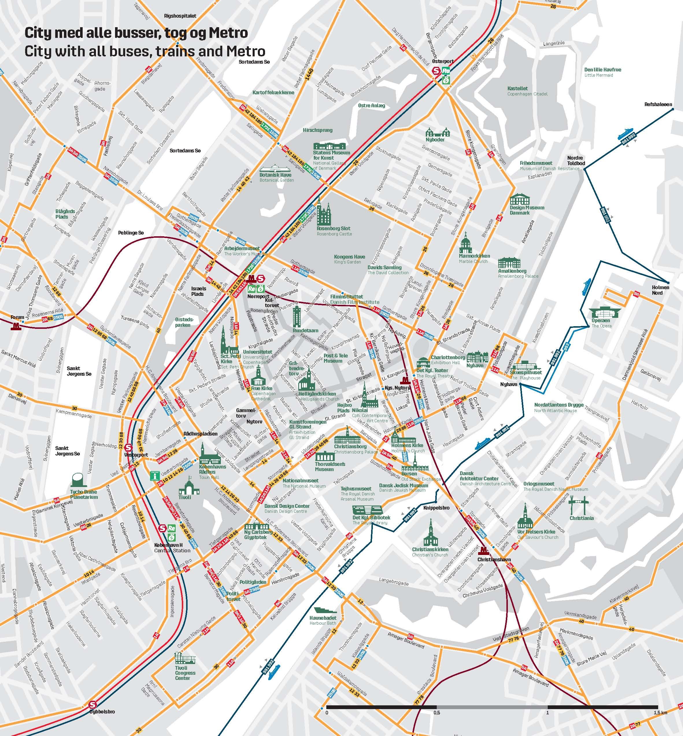 Copenhagen City Map Pdf