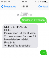 Pay for ticket with sms