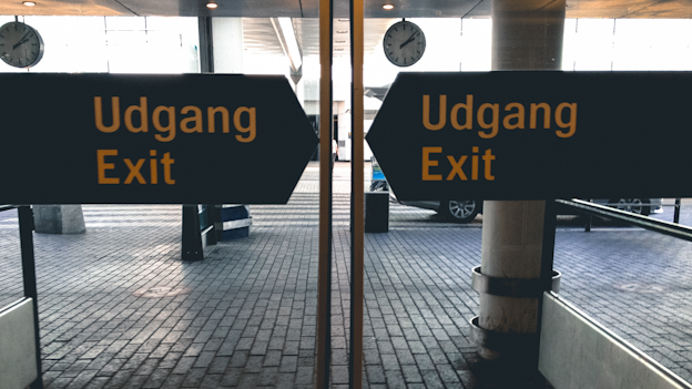 Exit copenhagen airport on Scandinavia Standard