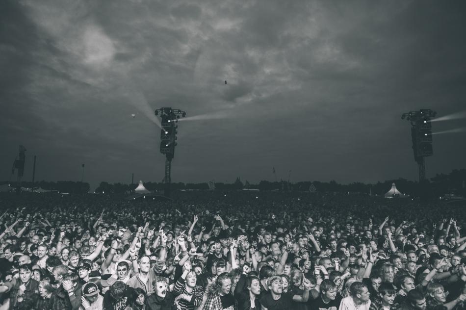 Slipknot crowd, Roskilde Festival, 04.07.2013 (Photo by Tom Spray)