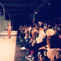 Henrik Vibskov Copenhagen Fashion Week Show Model and Audience Scandinavia Standard