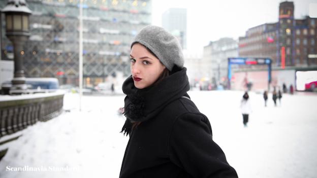Rebecca in the Snow Scandinavia Standard Fashion Week Copenhagen