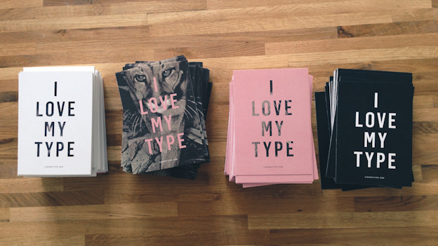 I LOVE MY TYPE Cards on Scandinavia Standard