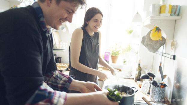 Rasmus Cooking in Kitchen for Jewish Passover in Copenhagen Denmark on Scandinavia Standard