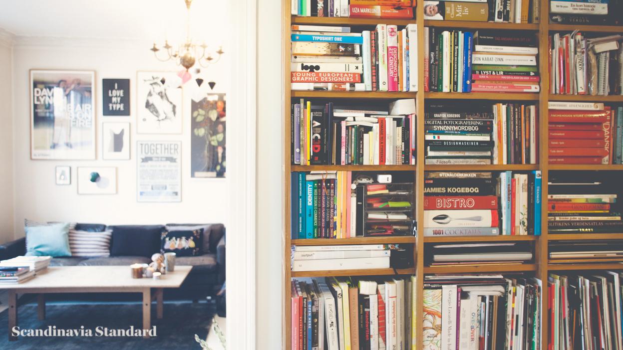 Scandinavia Standard I LOVE MY TYPE Bookcase and Livingroom