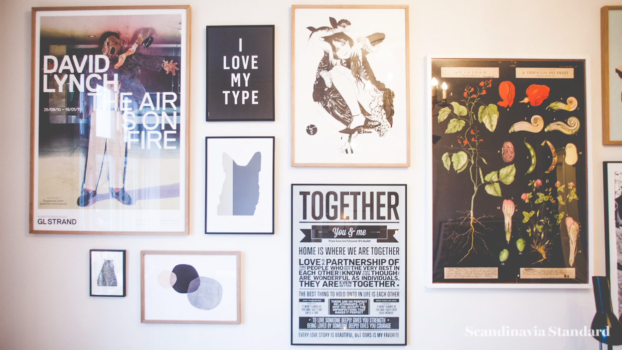 Scandinavia Standard I LOVE MY TYPE Wall Posters and Pictures