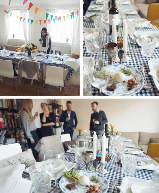 Yellow Dining Room for Jewish Passover in Copenhagen Denmark on Scandinavia Standard