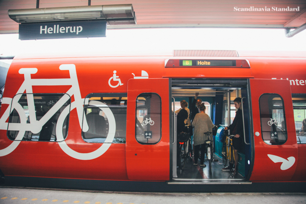 Public Transport in Copenhagen - Bikes on Trains - Hellerup | Scandinavia standard