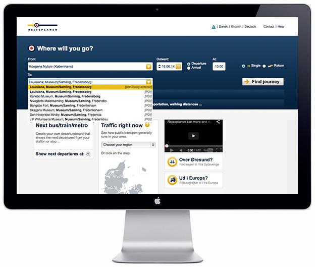Journey Planner - Rejseplanen - Scandinavia Standard