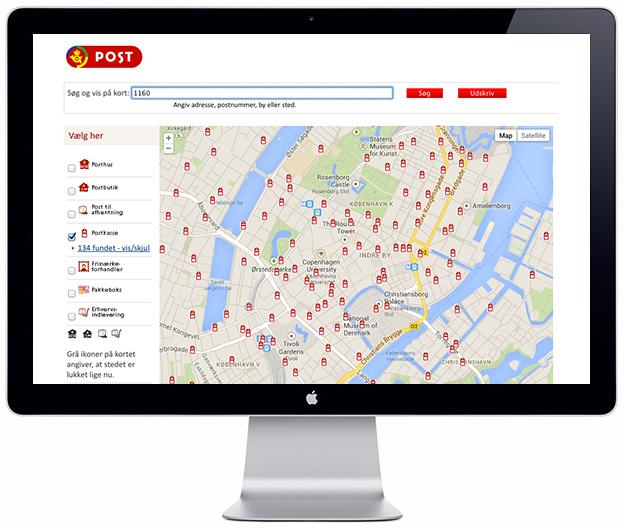 Post Box Locator - Scandinavia Standard