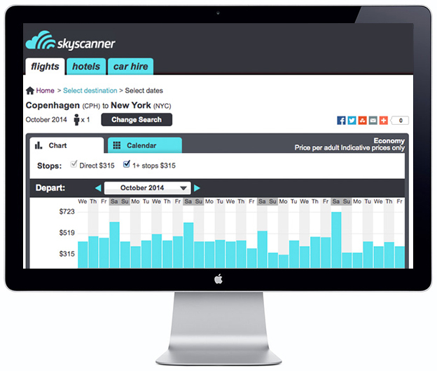 Skyscanner on Mac - Scandinavia Standard