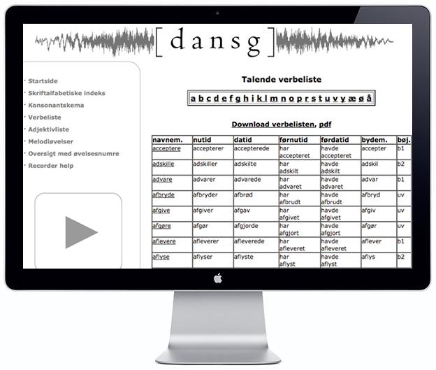 Spoken Verb List - Scandinavia Standard