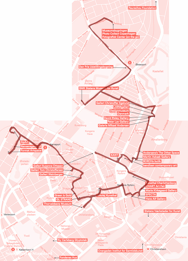 Copenhagen Art Week Map + Route | Scandinavia Standard