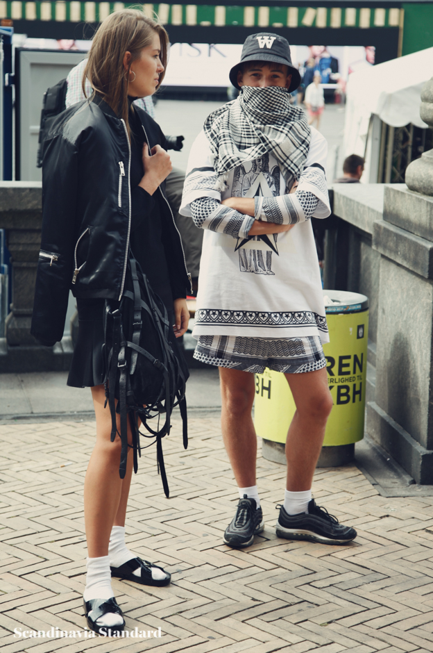 Kafia covering face - Copenhagen Fashion Week Street Style | Scandinavia Standard