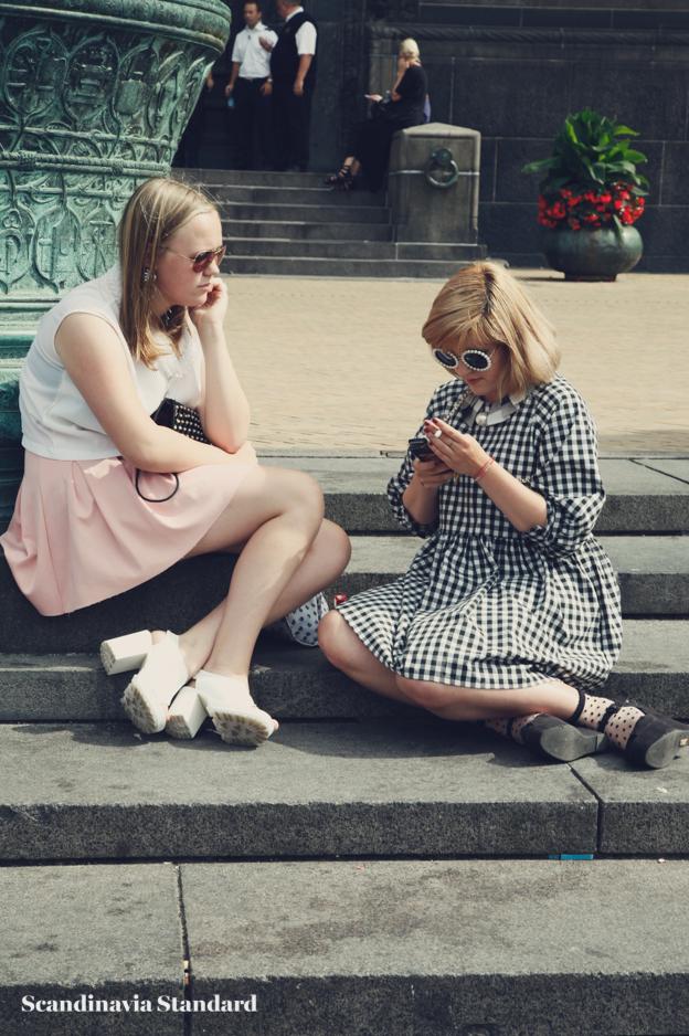 on the stpes, polka dot dress - Copenhagen Fashion Week Street Style | Scandinavia Standard
