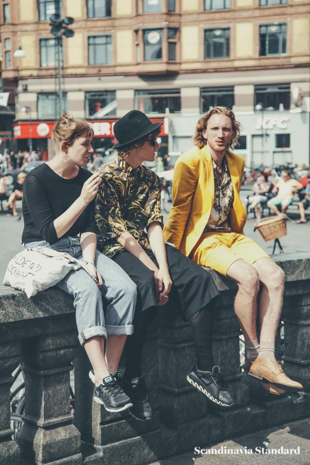 yellow blazer and shorts - Copenhagen Fashion Week Street Style   Scandinavia Standard