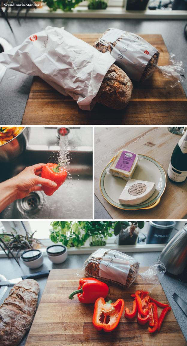 5. Danish Brunch with Organic Bread, Cheese & Dips | Scandinavia Standard