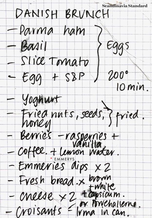 Danish Brunch Recipe Ingredients | Scandinavia Standard
