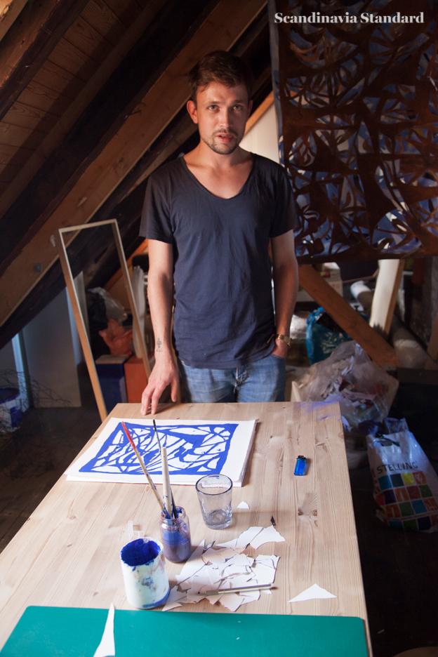 Mathias Malling Mortensen Portrait with Art   Scandinavia Standard