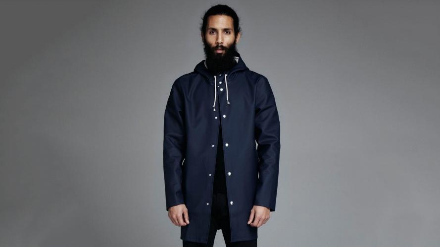 Stutterheim Stockholm Blue Raincoat
