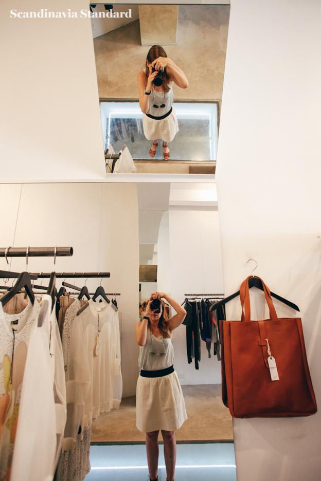 Selfie in Temporary Showroom Freya Berlin | Scandinavia Standard