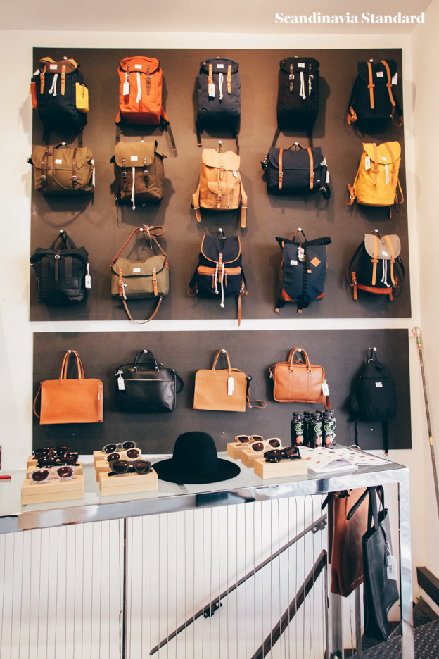 Temporary Showroom Bag Wall at Counter | Scandinavia Standard