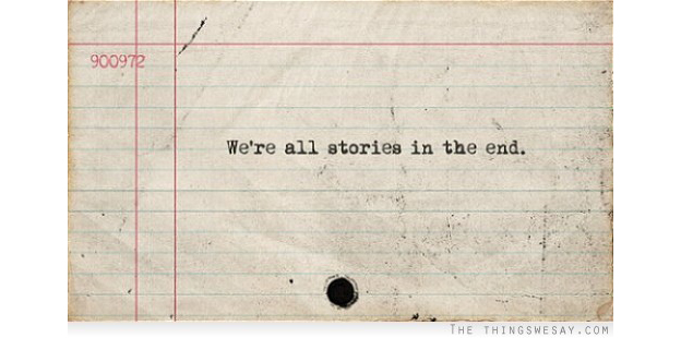 We're all stories in the end - on index card | Scandinavia Standard