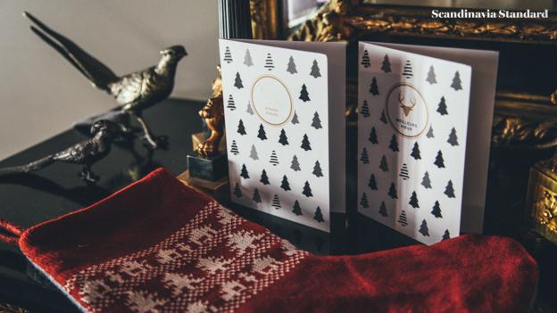 HJEM Christmas Cards with Birdies | Scandinavia Standard