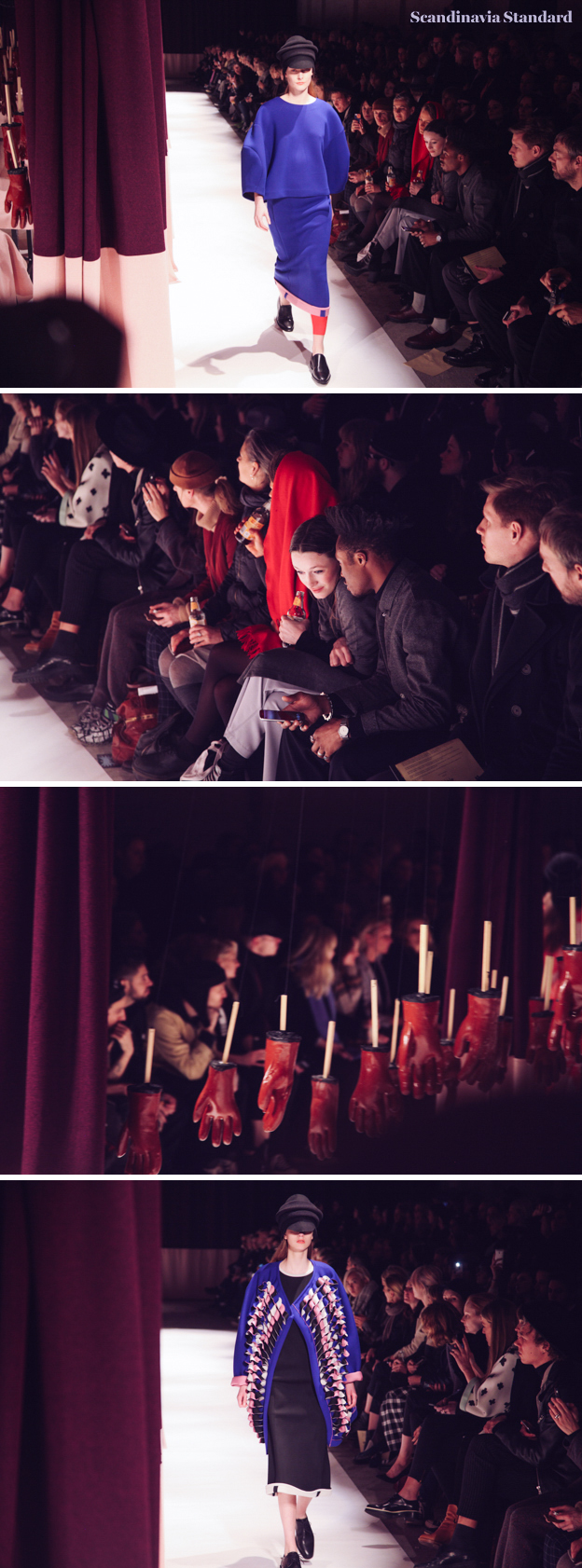 Henrik Vibskov Audience, Gloves and Blues at AW15 - Copenhagen Fashion Week | Scandinavia Standard