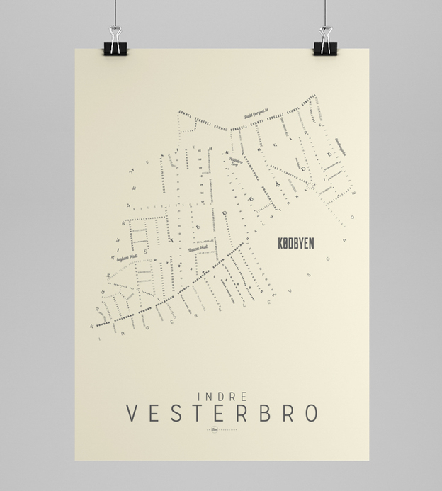 INDRE VESTERBRO DAY - Copenhagen Map - Art Rebels | Scandinavia Standard