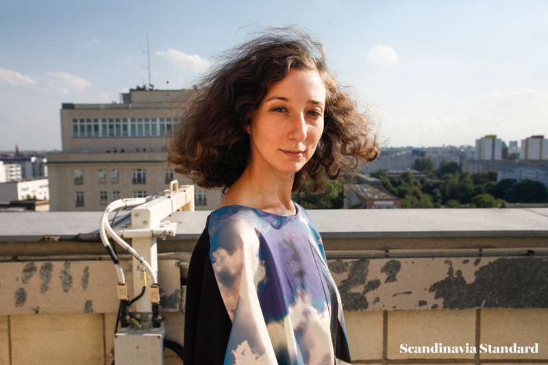 Ambra on the roof in Berlin  - Ambra Fiorenza | Scandinavia Standard