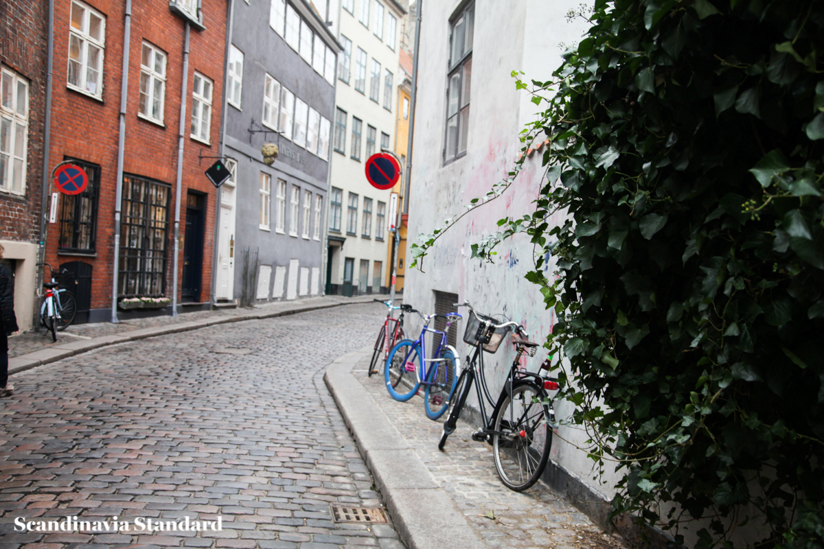 Bikes Down the Alleyway in Copenhagen