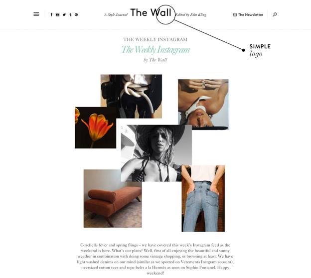 Design Guidelines - Simple Logo - Elin Kling - The Wall - A Very Scandi Guide to Creating Your Own Blog | Scandinavia Standard