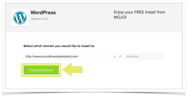 STEP 6. Intstalling WordPress - Checking Your Domain Name - MOJO expert - Blue Host - A Very Scandi Guide to Creating Your Own Blog   Scandinavia Standard