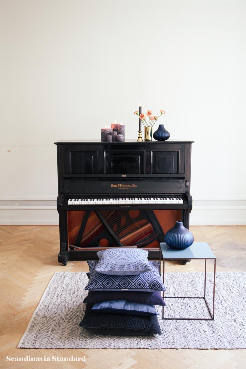 Broste Copenhagen - Danish Design without the Price Tag - White Room - Piano - Cushions - Candles - Vases - Autumn Winter 2015 Sneak Peak | Scandinavia Standard