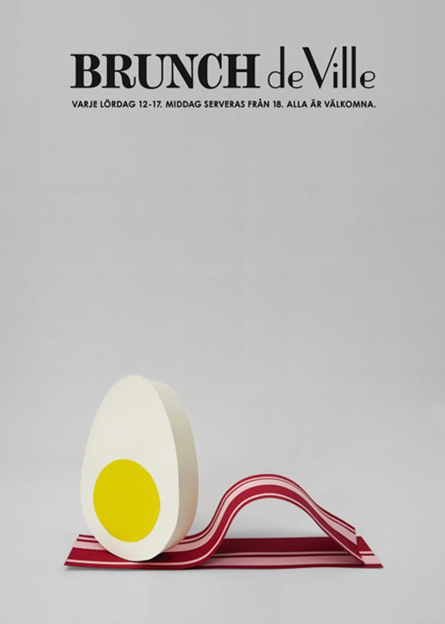 Daniel Carste - Brunch De Ville graphic poster | Scandinavia Standard