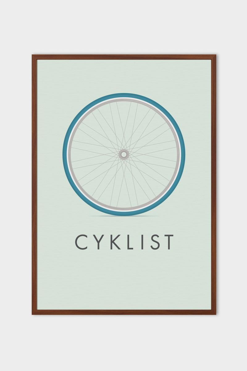 Emerybloom Cyklist graphic poster | Scandinavia Standard