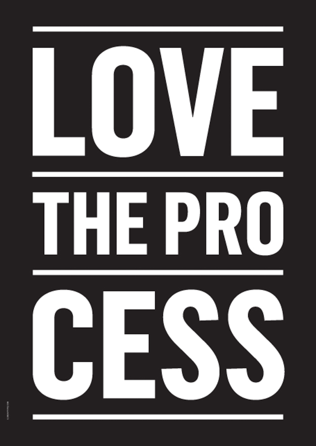 I love my type love the process poster