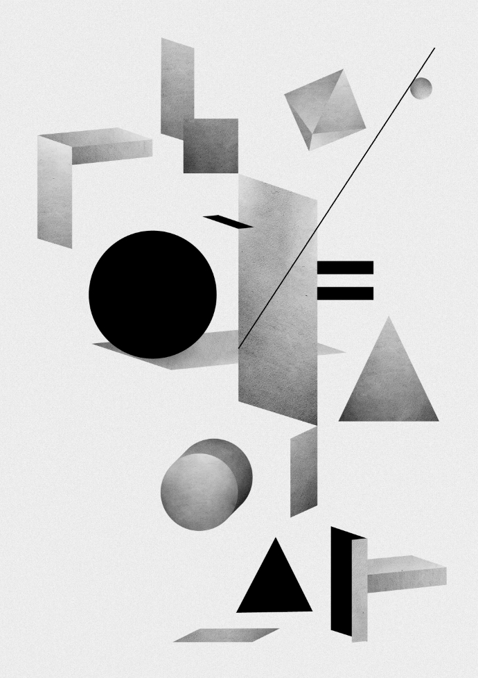 Oh Yeah Studio Composition 1 Graphic Poster | Scandinavia Standard