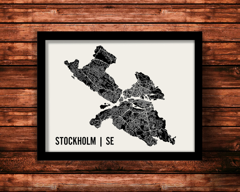 Mr city print map stockholm