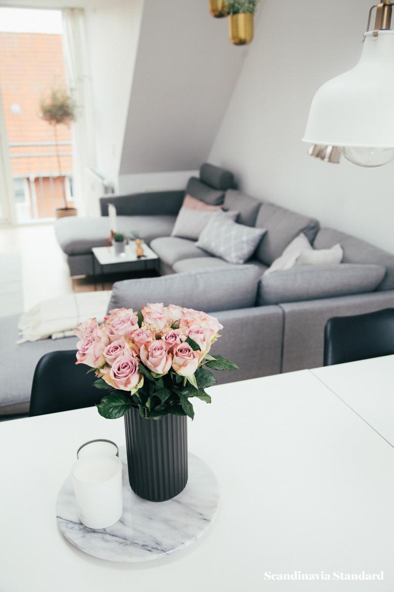 The White Room - Christina & Ulrich's Østerbro Apartment - Interiors - Pink Roses | Scandinavia Standard