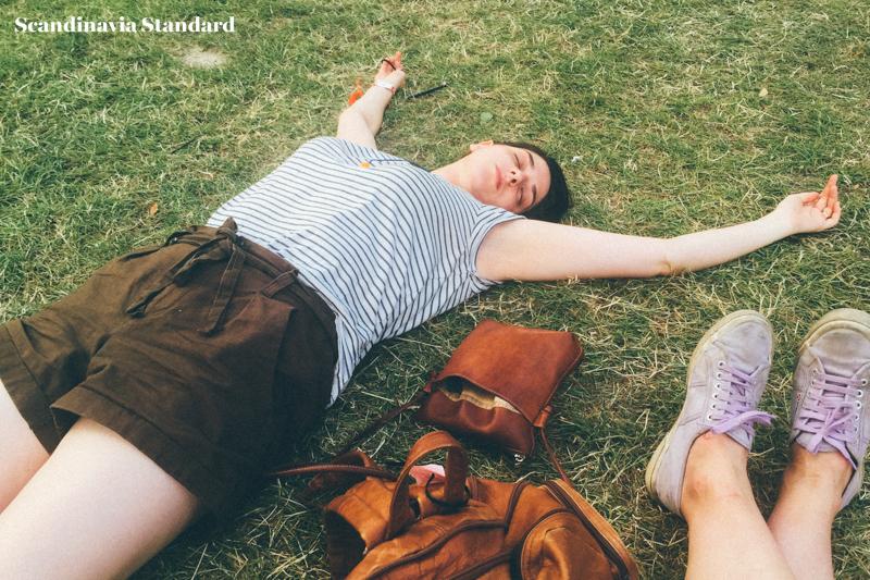 Rebecca lying on the Grass | Scandinavia Standard